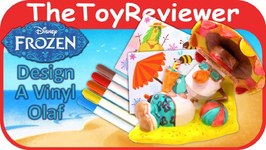 Disney's Frozen Design A Vinyl Olaf With Markers and Stickers Unboxing Toy Review