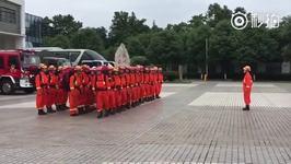 Firefighters Search for Survivors After Sichuan Landslide