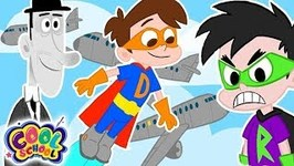 Drew Saves the Airplanes - A Stupendous Drew Pendous Superhero Story- Cartoons for Kids