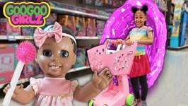 Doll Plays Hide and Seek While Goo Goo Girlz Shop for Food!