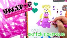 SpacePop Dolls Sketch Portfolio Art Set Review SpacePop