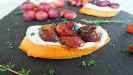 Appetizer Recipe- Roasted Grape Crostini