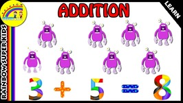 Basic Addition For Kids - Adding by 3 - Learn To Count Numbers - Addition Videos For Kindergarten