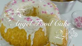 Angel Food Cake Espanol O Pastel Angel Con Glaseado De Vainilla / Bizcocho De Claras Angel Cake