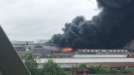 Firefighters Battle Large Blaze at Industrial Site in St Petersburg