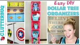Easy DIY Dollar Tree Organizer - How to make a Storage Shelf
