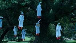 Ku Klux 'Klown' Effigies Hung From Tree to Protest White Nationalism in Virginia