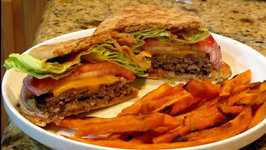Twisted Burgers With Sweet Potato Fries