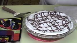 Chocolate Cream Pie With Graham Cracker Crust - Pi day 2017