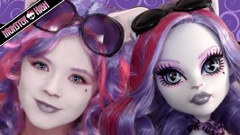 Catrine DeMew Monster High Doll Costume Makeup Tutorial for Cosplay or Halloween