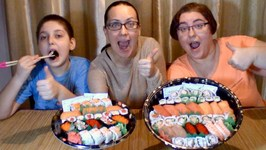 2 Trays Sushi -Gay Family Mukbang -Eating Show