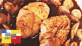 Ris de veau en cocotte aux cèpes