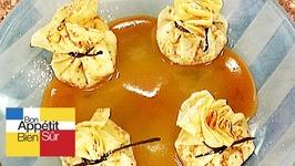 Aumonière de pommes caramélisées