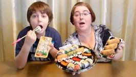 Sushi -Gay Family Mukbang - Eating Show