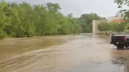 Blue River Overflows, Causes Flooding in Salem, Indiana