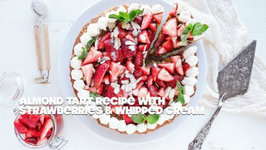 Almond Tart With Fresh Strawberries And Whipped Cream