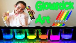 Rainbow Glow Stick Art Easy Science Projects Experiments For Kids The Science Kid