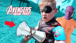Thors New Gear Test Avengers Infinity War Movie Kids Challenge And Toys Review