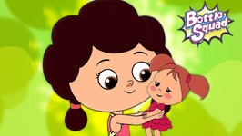 Miss Polly Had A Dolly - Bottle Squad Rhymes - Kids Songs - Superhero Cartoons - Toddler Rhymes