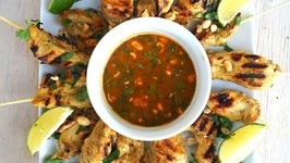 Appetizer Recipe-Coconut Curry Chicken Skewers