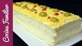 Pastel de atun con pan de molde- Sandwich gigante de cocina familiar- Recetas de cocina caseras