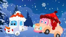 Little Snow Flake - Winter Song For Kids - Children's Car Cartoons