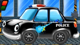Police Car Black - Car Wash