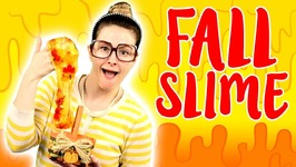 Fall Slime DIY - How To Make Fall Confetti Slime - Arts And Crafts With Crafty Carol