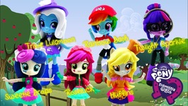 My Little Pony Equestria Girls Minis - Trixie Sweetie Drops Roseluck Muffins Derpy Sci-Twi