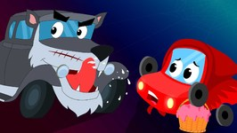 Little Red Car In And As Little Red Riding Hood - Stories For Children