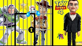Forky Rescues Woody and Buzz from Benson's Toy Story 4 Jail (Lock and Key Game)