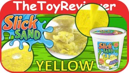 Yellow Slick Sand 1 Lb. Bucket DuneCraft Unboxing Toy Review