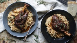 Braised Lamb Shanks Recipe With Parmesan Risotto