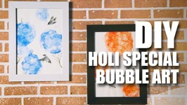 Mad Stuff With Rob - DIY Holi Special  Bubble Art