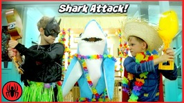 Shark Attack Batman vs Superman Beach Party In The House