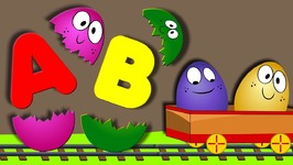 Learn ABC with SURPRISE Eggs 3D Nursery Rhymes Phonics Song A For Apple Alphabet Songs for Children