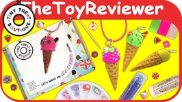 Tiny Treat Boutique Ice Cream Charm Kit DIY Craft Polymer Clay Unboxing Toy Review