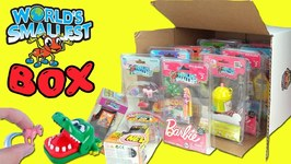 Worlds Smallest Toys Series 1 & 2 Box Opening!! My Little Pony, Smooshy Mushy, UNO, Barbie