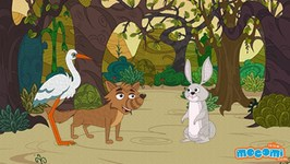 The Wolf And The Crane - Panchatantra Story In English - Educational Videos