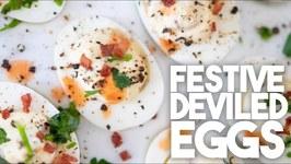Festive Deviled Eggs