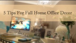 5 Tips For Fall Home Office Décor