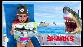 SHARK WEEK Great White Shark ATTACK Figure PlaySet Shark in the Swimming Pool