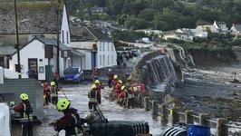 Flash Flood Hits Coverack in Cornwall