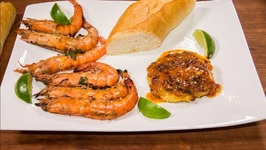 Crab Cake Chipotle With Caribbean BBQ Garlic Shrimp