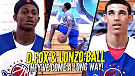 16 Yr Old Lonzo Ball And De'aaron Fox In 10th Grade Doing Work At A Stacked Pangos All American Camp