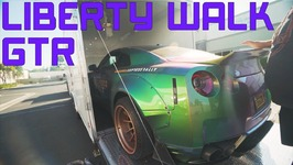 Vlog Close Call On Trailer - Loading A Liberty Walk GTR