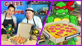 Ninja Turtle Pizza Cake How To - Easy Cake Decorating For Kids