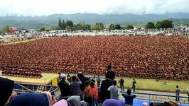 Thousands Gather for Traditional Indonesian Dance Performance