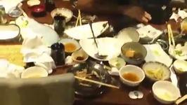 Slow Motion Handstand Fail at Peaceful Japanese Restaurant