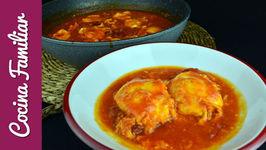 Huevos escalfados con salsa de tomate casera - Recetas para dieta